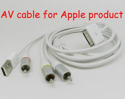 AV CABLE for Apple ipad/ iphone/ipod series